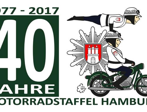 Die Motorradstaffel feiert ihr 40 jähriges Jubiläum