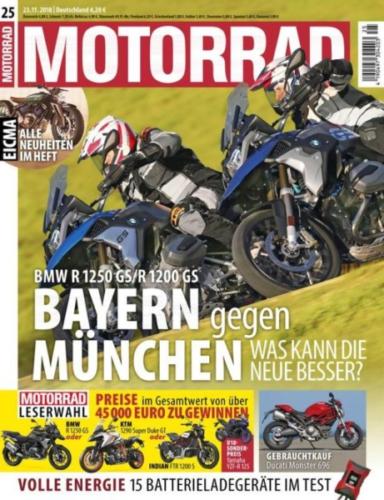 Die Motorradstaffel in der aktuellen Ausgabe der Zeitschrift Motorrad